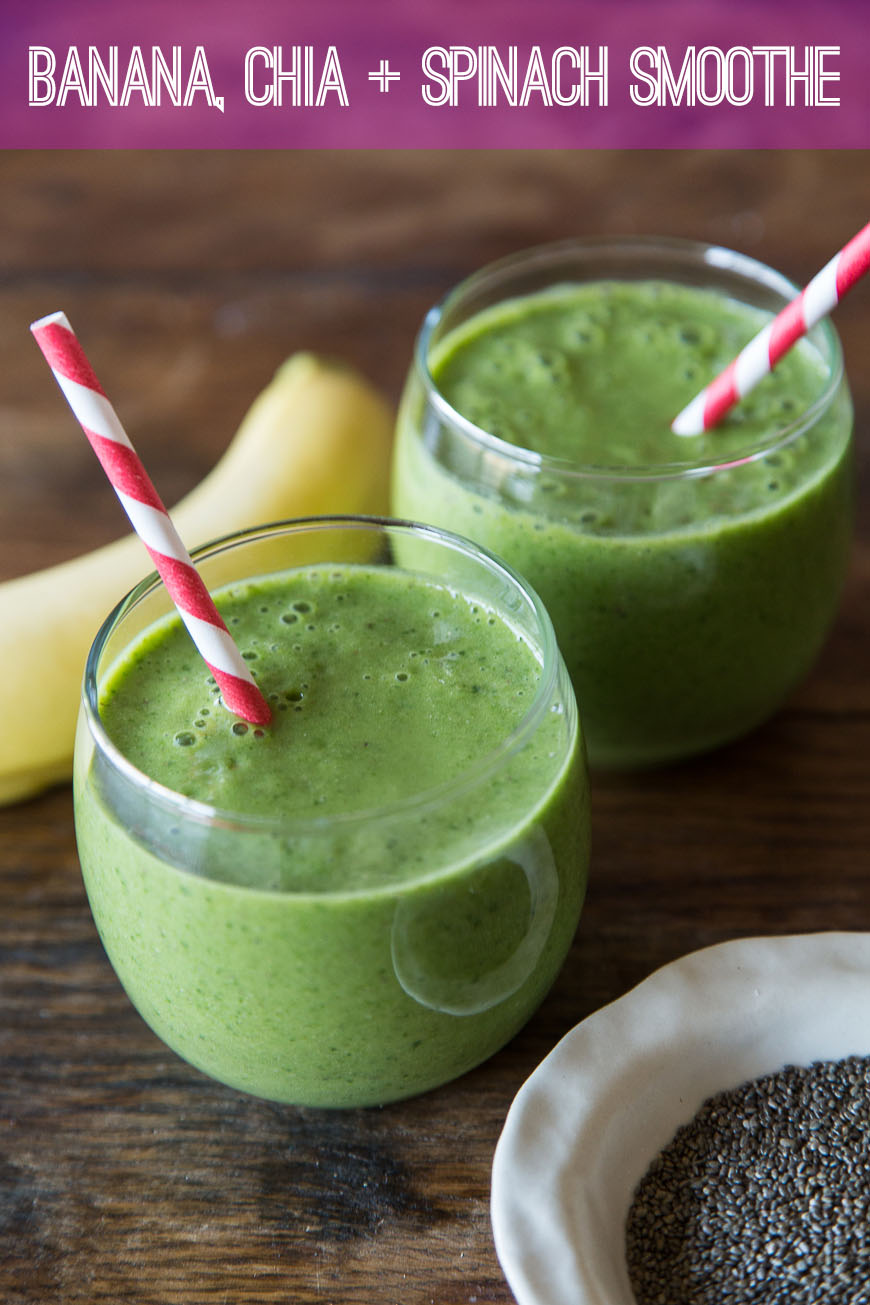 banana chia spinach smoothie recipe