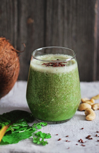 coconut cashew swiss chard smoothie recipe